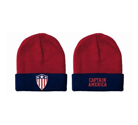 Bonnet Rouge Retro Shield Captain America