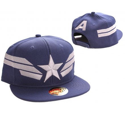 Casquette Bleue Baseball Star Wings Captain America