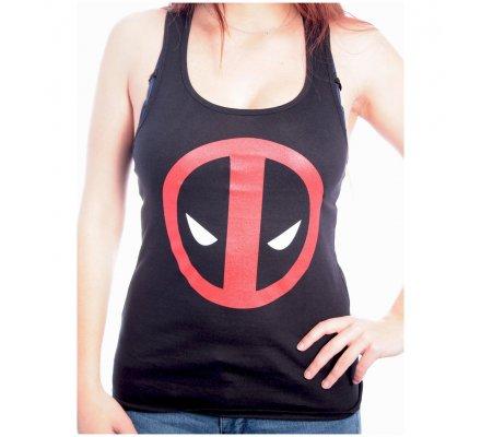 Débardeur Femme Noir Logo Deadpool