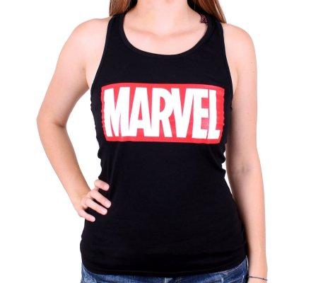 Débardeur Femme Noir Logo Marvel