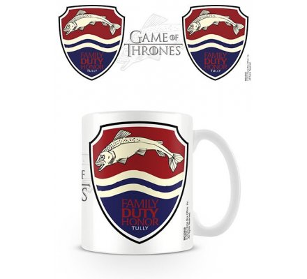 Mug Blanc Céramique Tully Game of Thrones