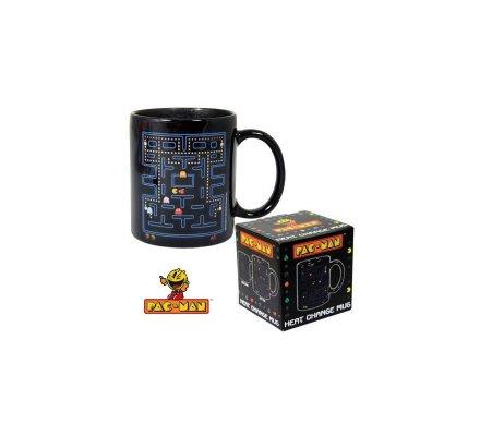 Mug Noir Décor Thermique Pacman