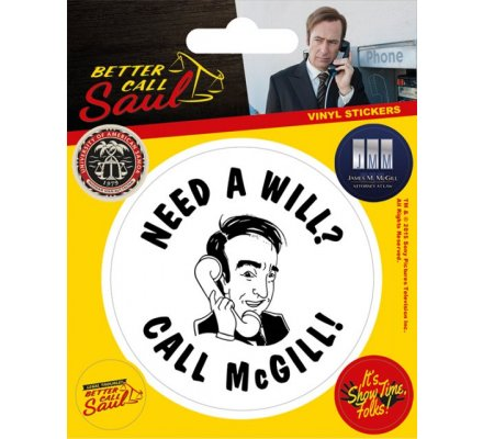 Pack de 5 Stickers Better Call Saul