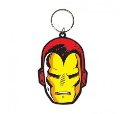 Porte-clés Caoutchouc Face 6 cm Iron Man