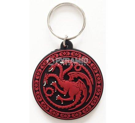 Porte-clés Targaryen Caoutchouc 6cm Game of Thrones