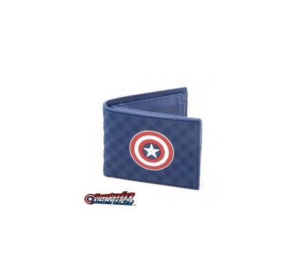 Portefeuille bleu Captain America