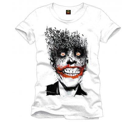 Tee-Shirt Blanc Crazy Joker Batman