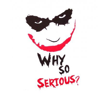 Tee Shirt Blanc Joker Why So Serious Batman