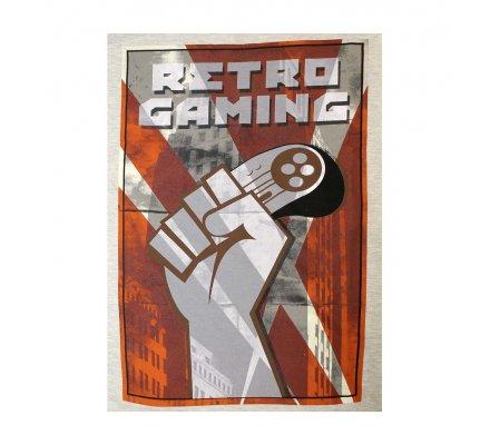 Tee-Shirt Blanc Retro Gaming Geek