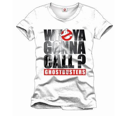 Tee-Shirt Blanc Who Ya Gonna Call Ghostbusters