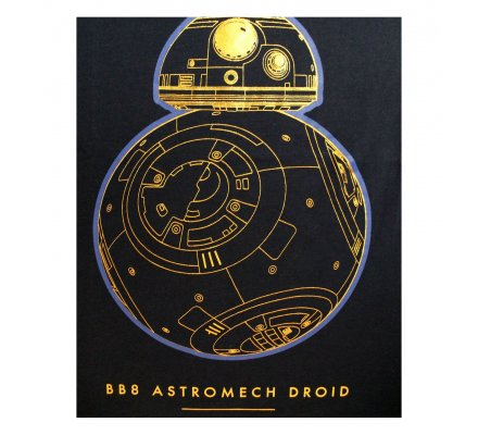 Tee-Shirt Bleu BB8 Droid Technical Star Wars