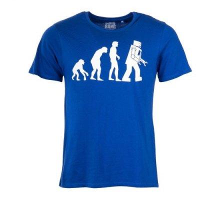 Tee-Shirt Bleu Evolution The Big Bang Theory