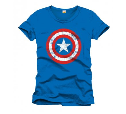 Tee-Shirt Bleu Loog Shield Captain America