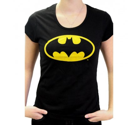 Tee Shirt Femme Noir Batman