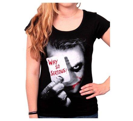 Tee-Shirt Femme Noir Joker Why So Serious Batman