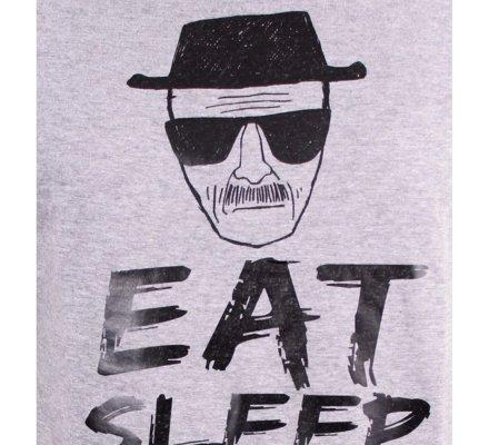 Tee-Shirt Gris Eat Sleep Cook Breaking Bad