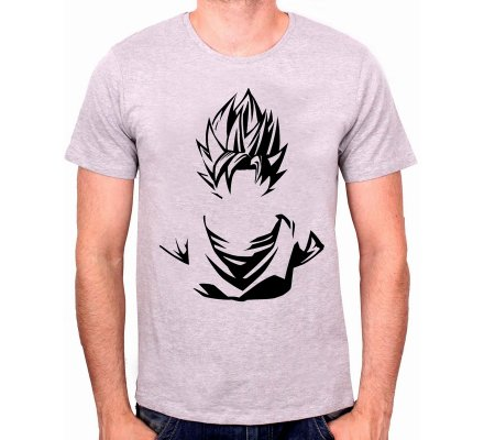 Tee-Shirt Gris Goku Dragon Ball Z