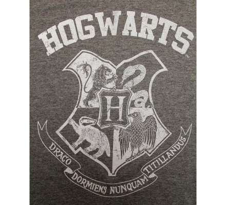 Tee-Shirt Gris Poudlard Old School Harry Potter