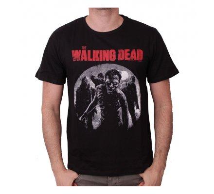 Tee-Shirt Noir Approaching Walkers The Walking Dead