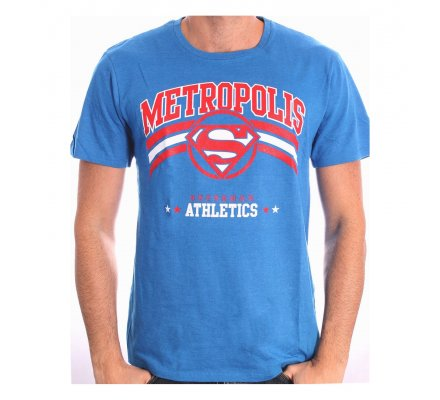 Tee-Shirt Noir Bleu Athletic Superman