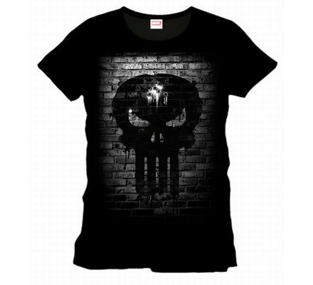 Tee-Shirt Noir Bricks Skull Punisher