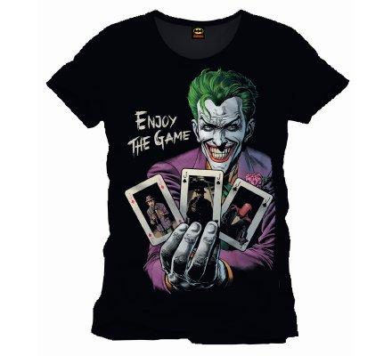 Tee Shirt Noir Enjoy the Game Joker Batman