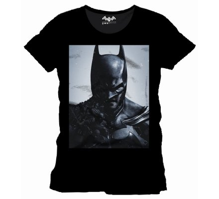 Tee Shirt Noir Face Arkham Origins Batman