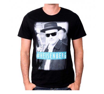 Tee-Shirt Noir #Heinsenberg Breaking Bad
