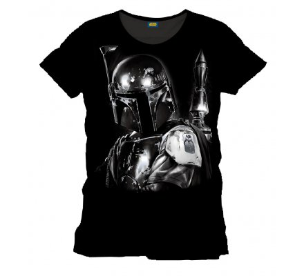 Tee-Shirt Noir Silver Boba Fett Star Wars