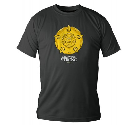 Tee-Shirt Noir Tyrell Growing Game of Thrones