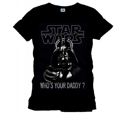 Tee-Shirt Noir Who's Your Daddy Star Wars