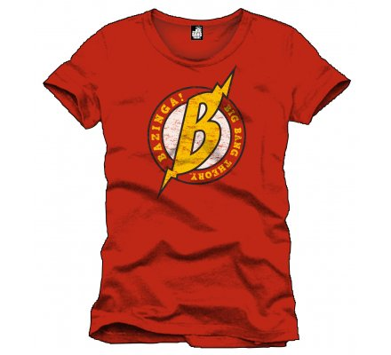 Tee-Shirt Rouge Bazinga The Big Bang Theory