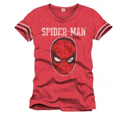 Tee-Shirt Rouge Masque Spiderman