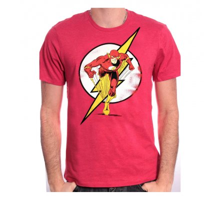 Tee Shirt Rouge Running Flash