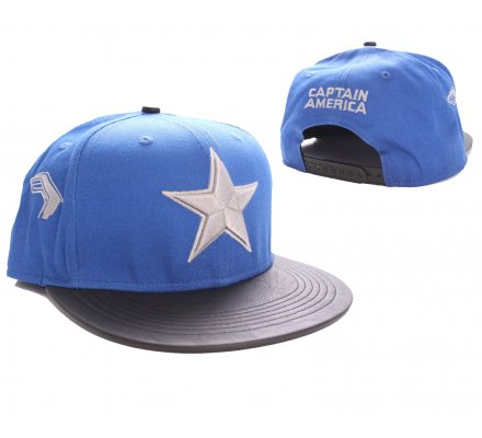 Casquette Bleue Baseball Star Logo Captain America