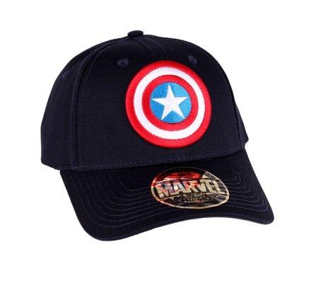 Casquette bleue marine Logo Shield Captain America