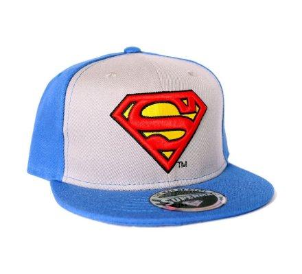 Casquette Baseball Grise et Bleue Vintage Logo Superman