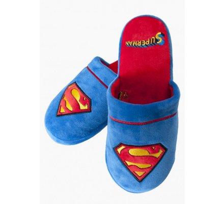 Chaussons Adulte Bleus Logo Superman
