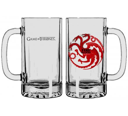 Chope en Verre Targaryen Game of Thrones