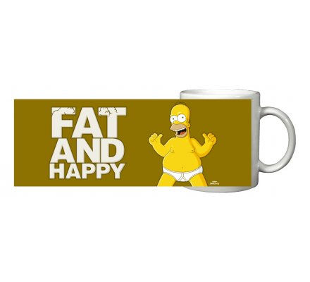 Mug Homer Fat & Happy Simpsons