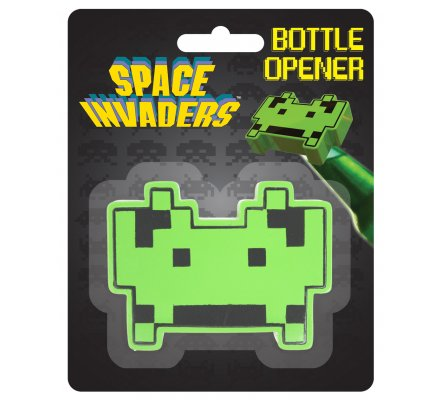 Décapsuleur vert Space Invaders