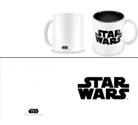Mug Blanc Céramique Logo Noir Star Wars