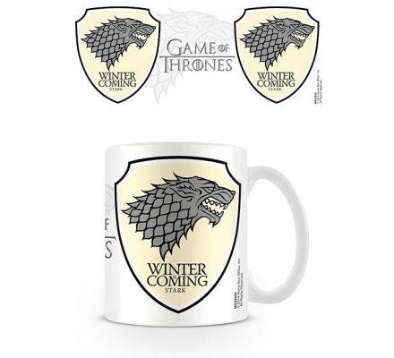 Mug Blanc Céramique Stark Winter Coming Game of Thrones