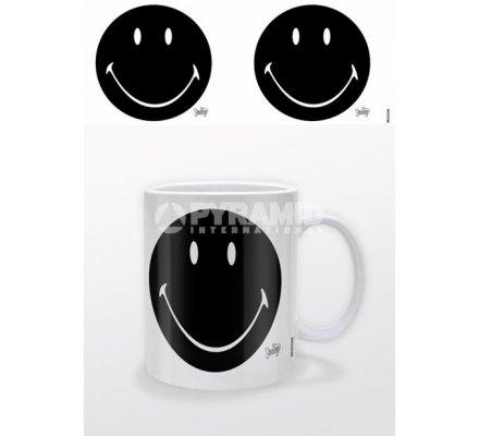 Mug Blanc Classique Noir Smiley
