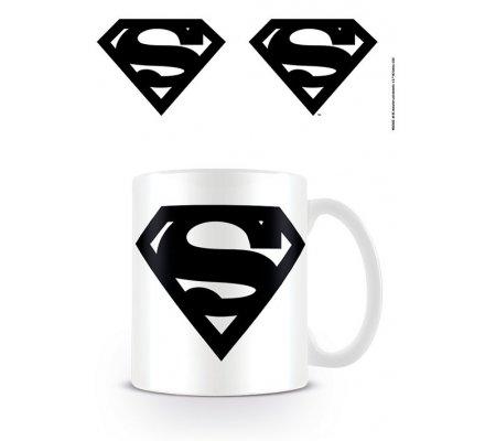 Mug Blanc Logo Noir Superman