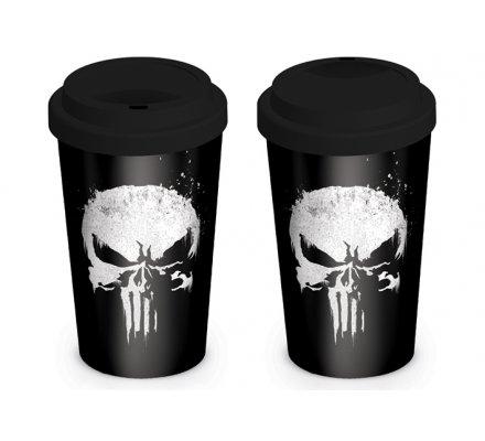 Mug de voyage Punisher noir et blanc