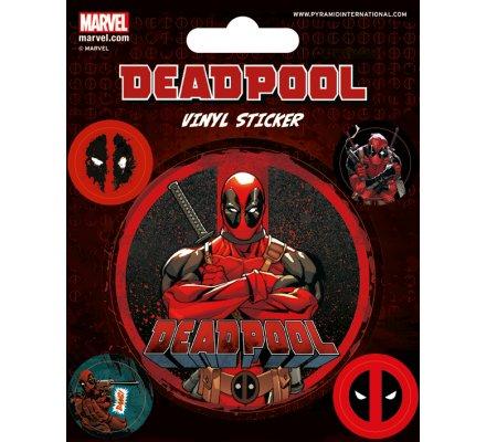 Pack de 5 Stickers Deadpool