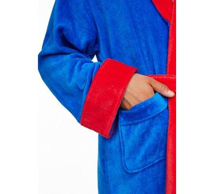 Peignoir Adulte Bleu Roi Logo Superman