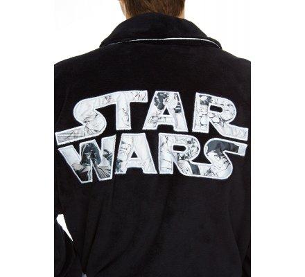Peignoir Adulte Noir Logo Star Wars