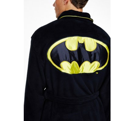 Peignoir Noir Logo 2 Batman